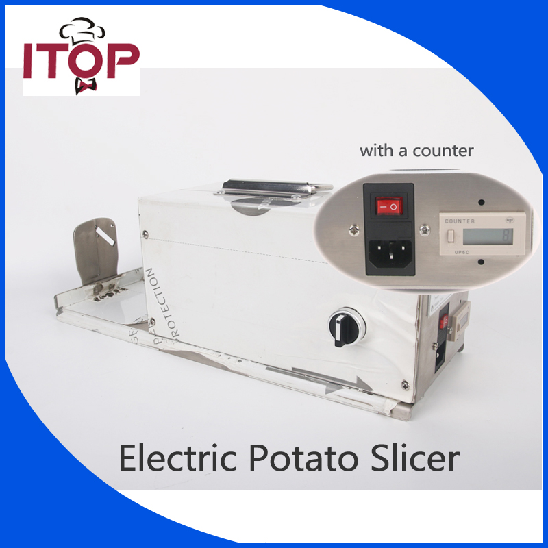 ITOP Commercial Twisted Potato Slicer Electric Spiral Carrot Cutter Multifunctional  Vegetable Cutting Machine 110V 220V цена и фото