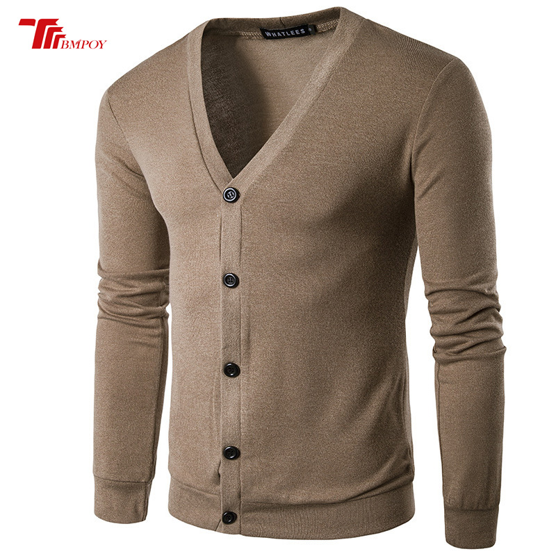New Men Cardigan Single Breasted Male Long Sleeve Sweater High Quality Long Mens Cardigans Sweaters