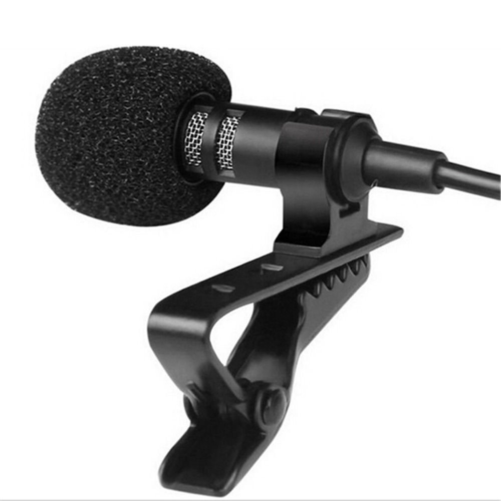Portable Clip-on Lapel Lavalier Microphone 3.5mm Jack Hands-free Mini Wired Condenser Microphone For Iphone Samsung Smartphone