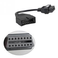Универсальный 12 Pin OBD1 до 16 Pin OBD2 конвертер Кабель-адаптер для диагностического сканера