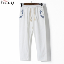 Men's Ankle-Length pants 2017 spring Fashion Men linen pants Comfortable Male trousers jogger pants casual straight pants 5XL