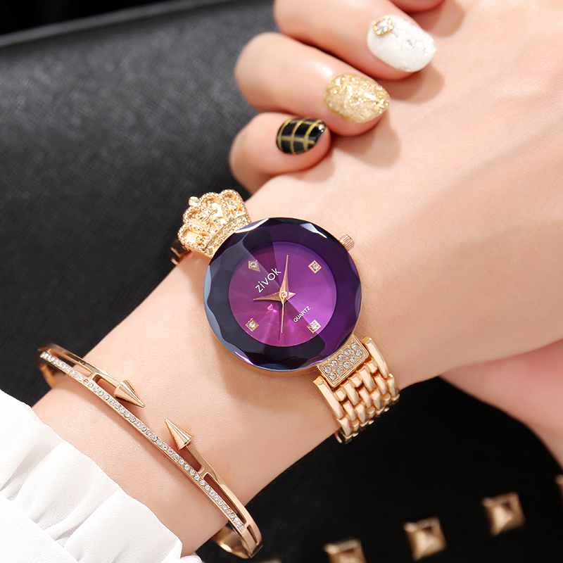 zivok Brand Luxury Women Bracelet Watches Rose Gold Fashion Quartz Wrist Watch Clock Women Relogio Feminino Girls Lovers Watch bering 32230 765