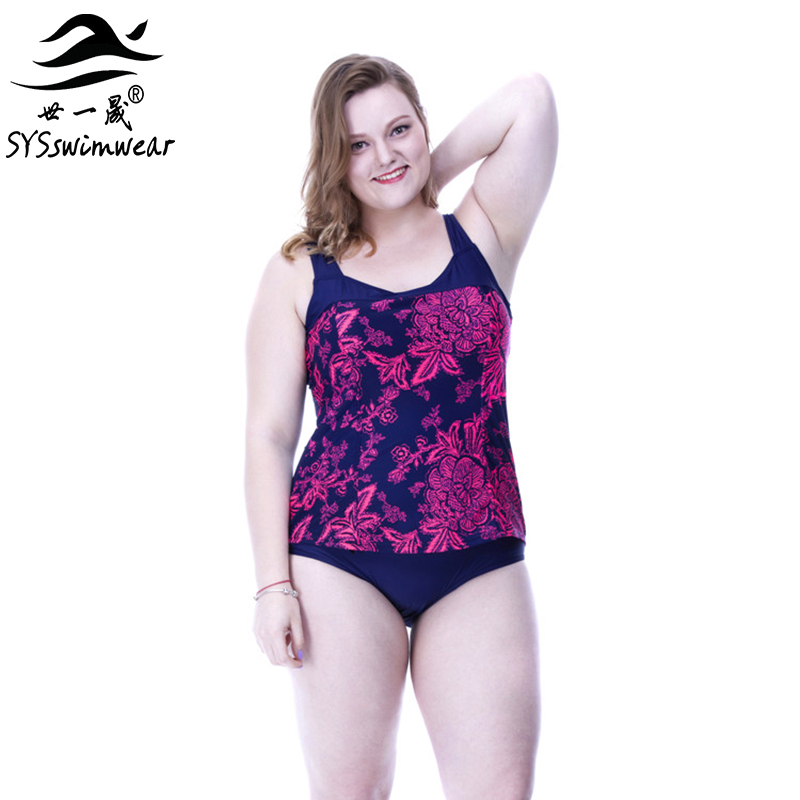 High Quality Plus Size Big Breast Sexy Floral Backless One Piece Swimwear Big Women Sport style Swimsuit 3 Colors Bathing suit fashionable plus size floral backless one piece swimsuit for women