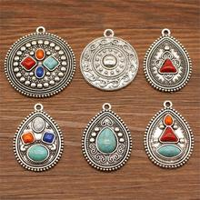 1 Piece Earing Waterdrop Earrings Pendant Mix Charms For Jewelry Making Diy Craft Supplies Vintage Earrings 2019 mix elephant necklace pendant charms for jewelry making diy craft supplies men jewelry elephant god