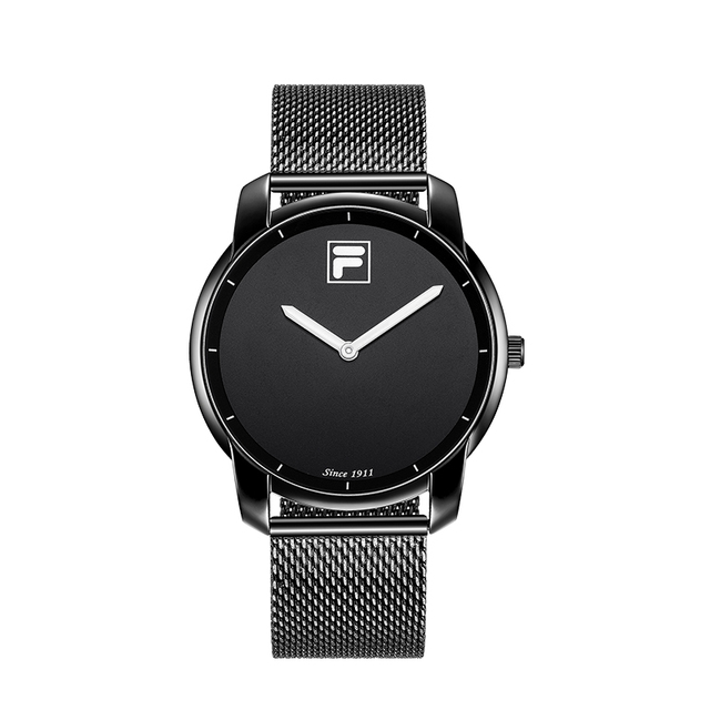 Fila watches men and women quartz watch fashion trend double needle large dial woven steel belt table 790