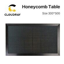 Cloudray favo de mel mesa de trabalho 300*500mm personalizável tamanho placa plataforma laser peças para co2 gravador a laser máquina de corte