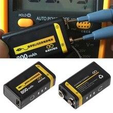 9V 800mAh mikro USB şarj edilebilir Lipo pil multimetre mikrofon uzaktan