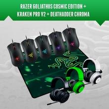 Razer Deathadder Chroma, 10000 인치 당 점, Synapse 2.0 + Kraken pro v2 + 선물 Mousepad, 새로운 무료 & 빠른 배송