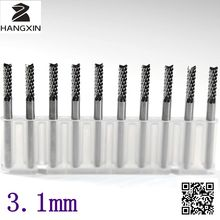 10PCS tungsten carbide PCB cutting machine 3 175 3 1mm fish tail carving tools routers CNC