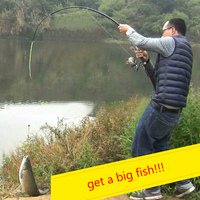 Durable Automatic Fishing Rod Ideal Sea Lake Fishing Pole With Stainless Steel Hardware 2.1m (without Reel) Fishing tackles