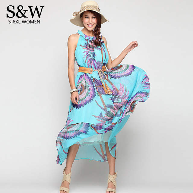 ffef2f72509 placeholder Sexy Summer Beach Dress Bohemia Chiffon Maxi Dress Plus Size  6XL 5XL 4XL XXXL Seaside Vacation