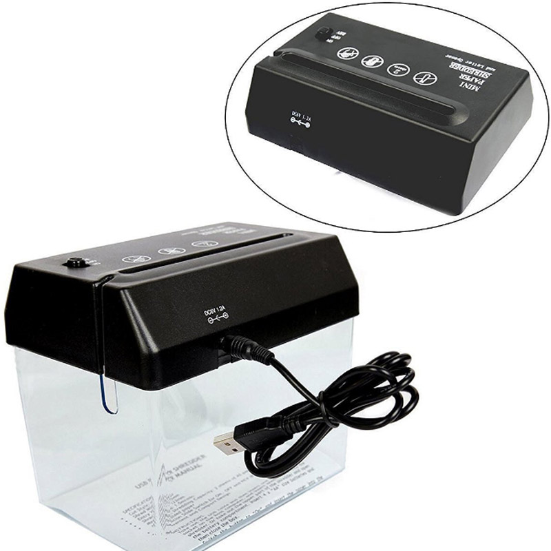 1PC USB Mini Barrel Shredder Desktop Office Household Battery Dual-Use A6 Electric Small Shredder Office&School Supplies1PC USB Mini Barrel Shredder Desktop Office Household Battery Dual-Use A6 Electric Small Shredder Office&School Supplies