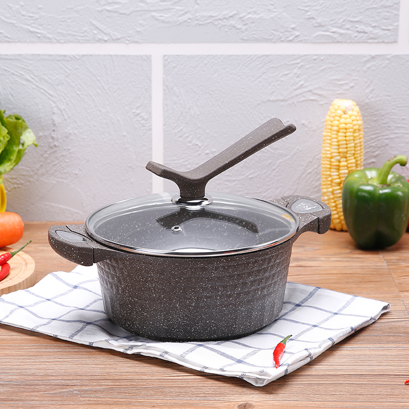 2016 nouvelle tour médicale pierre pot à soupe 20 cm binaural pot bouilli boulette soupe antiadhésive poêle sous surface congee