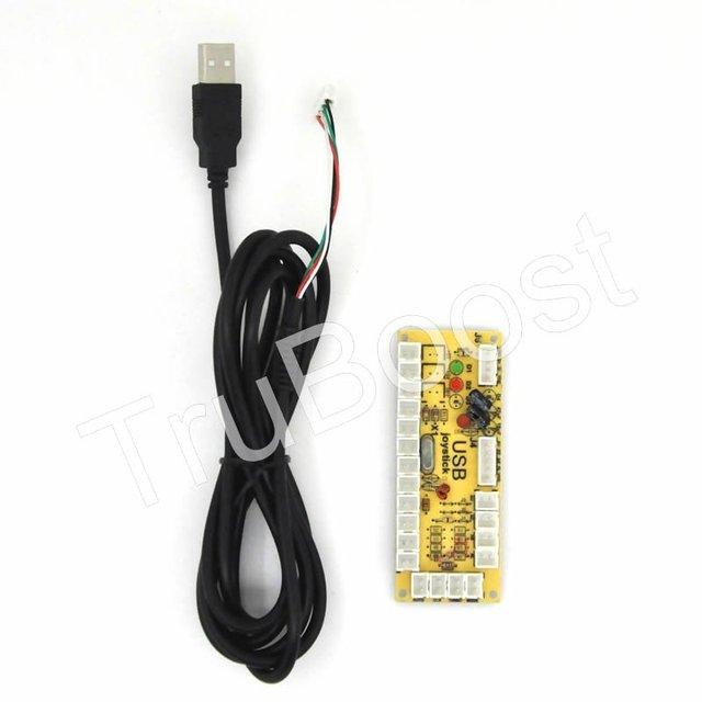2pcs 2pin Zero Delay USB Encoder PC Joystick Button For MAME Fight Stick Controls DIY Arcade Game Kit Parts