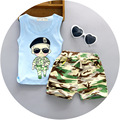 Children 1-4 Year Baby Set Unisex Navy Suit Clothes Character Style Summer Clothing Cotton Short Regular T-Shirt +Pants Sets
