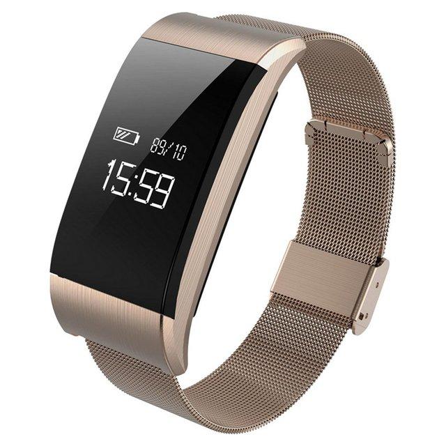 GENBOLI A66 Steel Band Smart Bracelet Heart Rate Monitor