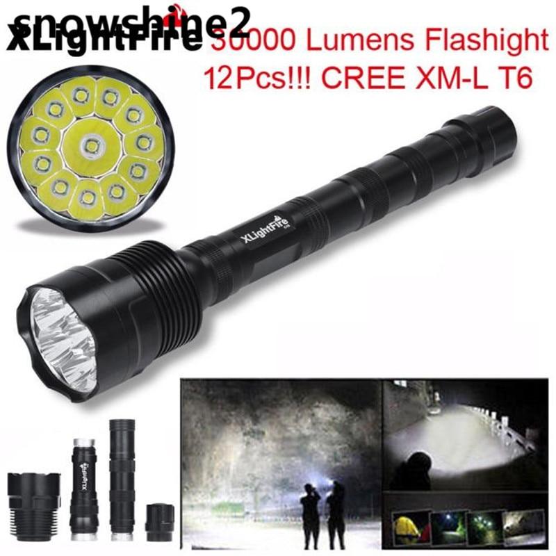 snowshine2 #5001 XLightFire 30000 Lumens 12x 2017 XML T6 5 Mode 18650 Super Bright LED Flashligh Bicycle flashlight sitemap 39 xml
