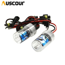 2pcs 35W AC 9006 hid xenon bulb car motorcycle xenon kit lamp projector lens Headlamp headlight replacement modify