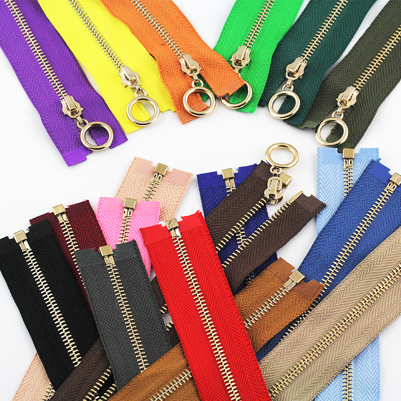 3# Open-end 40/50/60/70/90/120cm Rose Gold Slider Metal Copper Zippers For Bags Shoes Garment DIY