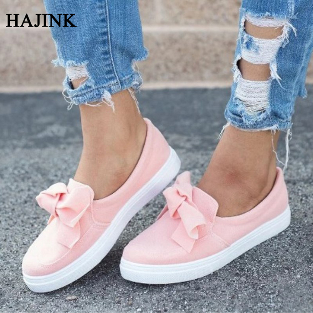 Ballet flats bow tie shoes woman loafers slip-on ladies flat casual sneakers shoes women plus size 42 43 platform shoes spring summer flock women flats shoes female round toe casual shoes lady slip on loafers shoes plus size 40 41 42 43 gh8