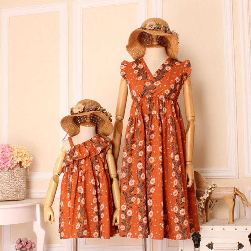bb2e0e261373 2017 Summer children clothes women girls family matching clothing family  look mother Bohemian beach daughter dresses Lady dress