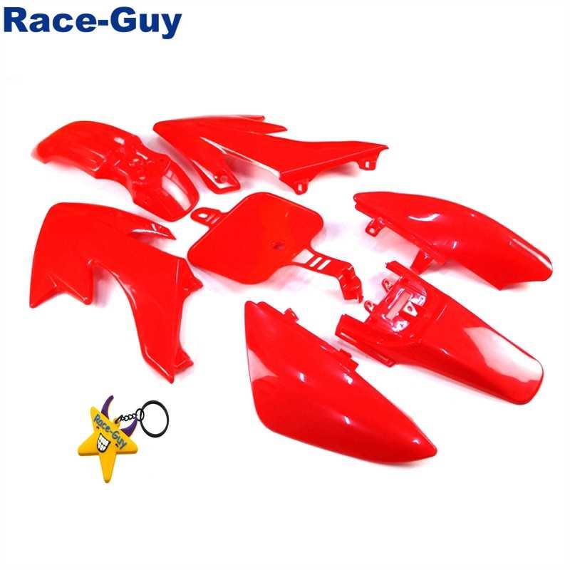 Race-Guy Yellow Strength Plastic Fairing Body Cover Kits For Honda XR50 CRF50 Piranha SSR Thumpstar Stomp Coolster Pitsterpro Braaap SDG GPX DHZ CRF50 XR50 50cc 70cc 90cc 110cc 125cc 140cc 150cc 160cc Dirt Pit Bike