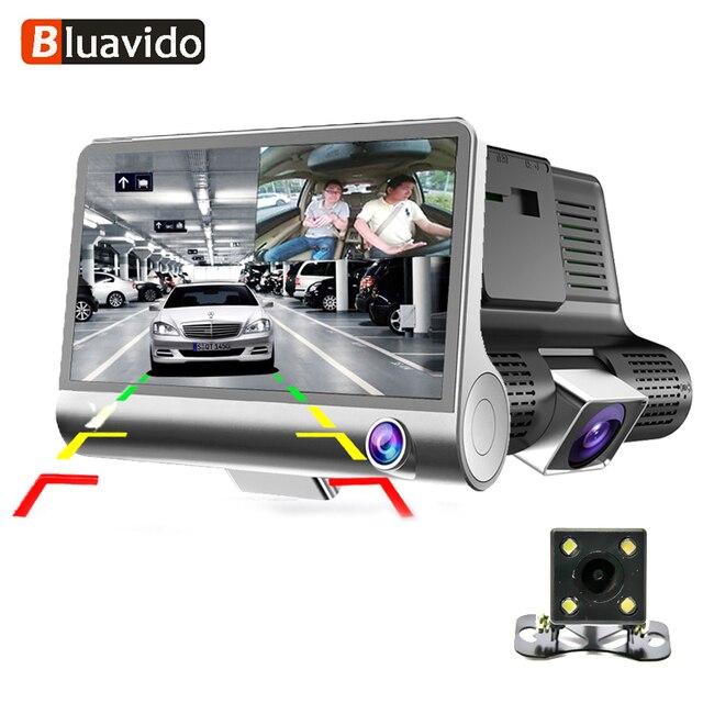 Bluavido 3 Way Camera Car Dvr Hd Video Recorder Camera Dual Lens