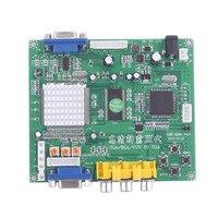 GBS-8200 Professional HD Game Board YPBPR/CGA/EGA/RGBS/RGBHV/YUV to VGA Video converter demo board standard VGA output Copper