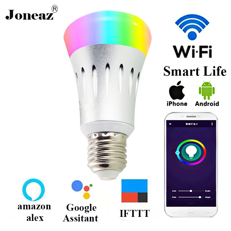 E27 B22 E14 Ampoule WIFI Bulb Rgbw Dimmable Smart Bulbs Lampara Led Light Alexa Google Assistant IFTTT Dropshipping Joneaz