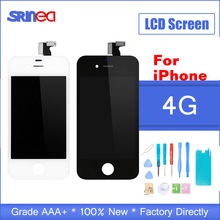 AAA+++ Quality LCD Display For iPhone 4 Touch Screen Replacement i Phone 4 LCD Display Digitizer Assembly No Dead Pixel + Tools ll trader black new quality aaa touch screen lcd for ipod touch 4 4g 4th lcd display digitizer assembly full replacement tools