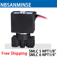 SMLC 5 SMLC 6 Series Water Dispenser Plastic Solenoid Valve Normally Closed 2 Way 1 8