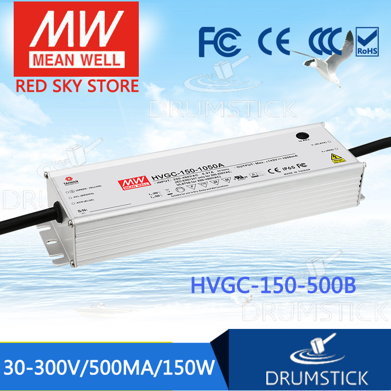MEAN WELL HVGC-150-500B 30 ~ 300V 500mA meanwell HVGC-150 150W Single Output LED Driver Power Supply B TypeMEAN WELL HVGC-150-500B 30 ~ 300V 500mA meanwell HVGC-150 150W Single Output LED Driver Power Supply B Type