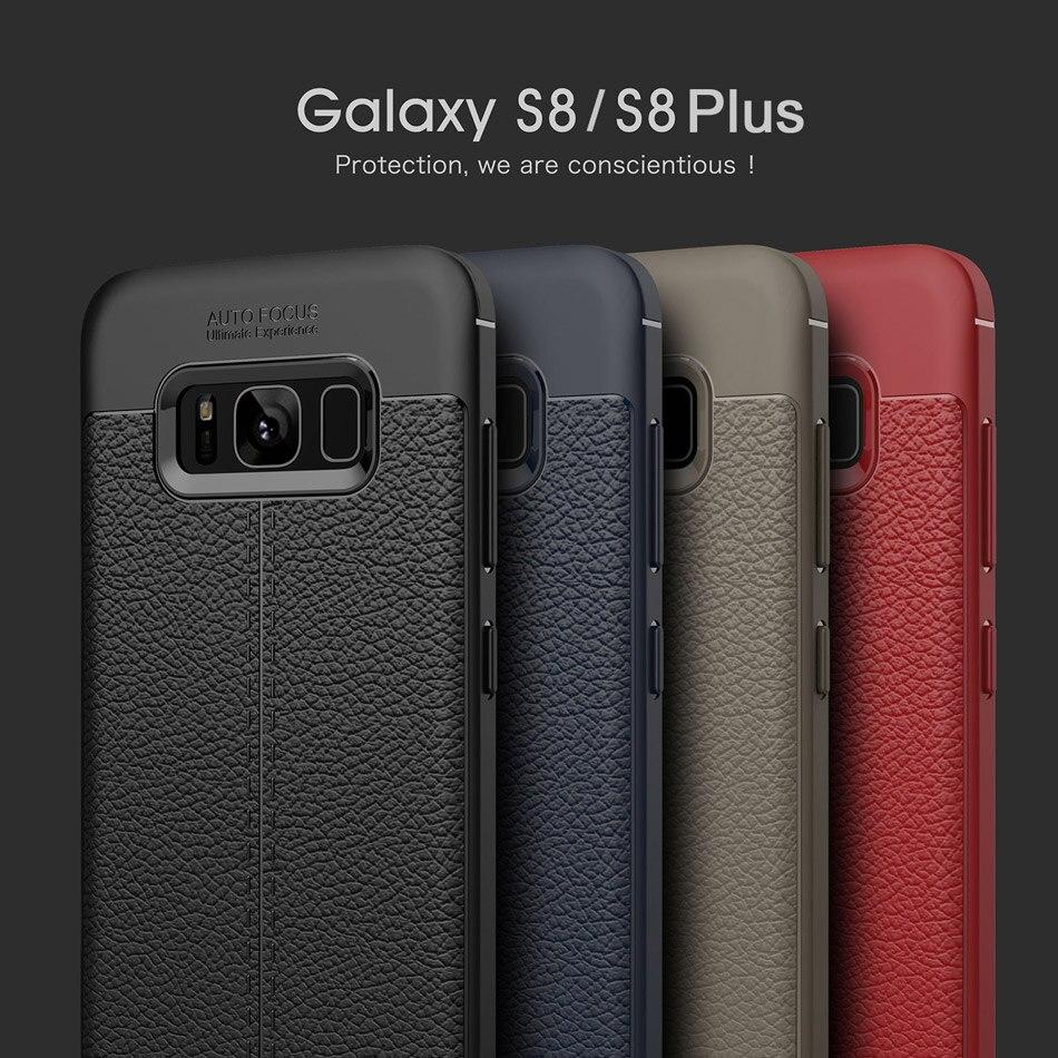 Samsung Galaxy S8 S8 Plus üçün karbon lifli toxumalı TPU silikon - Cib telefonu aksesuarları və hissələri - Fotoqrafiya 6