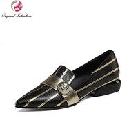 כוונה מקורית סגנון מוזר הבוהן מחודדת נעליים מזדמנים נשים אופנה עקבים האביב/סתיו אישה נעלי גודל ארה