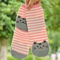 Alta Calidad Encantadora Linda de la Historieta Impresión del Gato del Perro Calcetines de Algodón Suave Cómodo de Punto A Rayas Corto Tobillo Calcetines Mujeres Ladies WS111