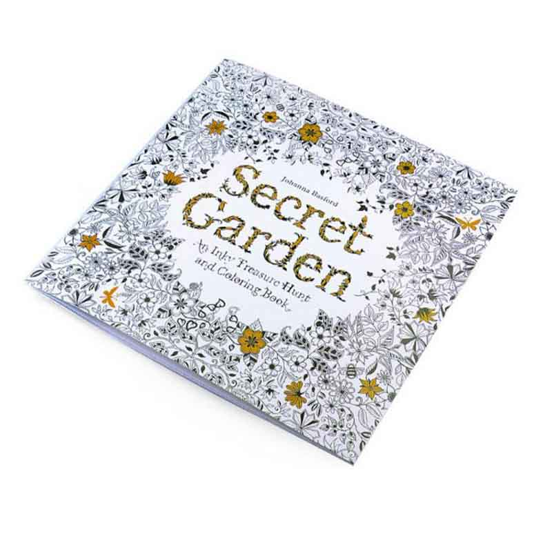 YYYYAAAA 24 Pages Secret Garden Series Antistress Coloring Book For Children Adults Graffiti