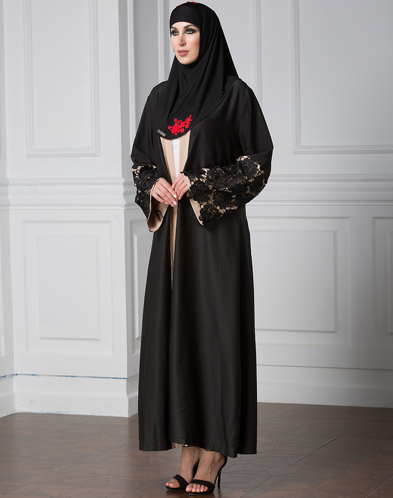 muslimah long cardigan middle east women dress djellaba islamic