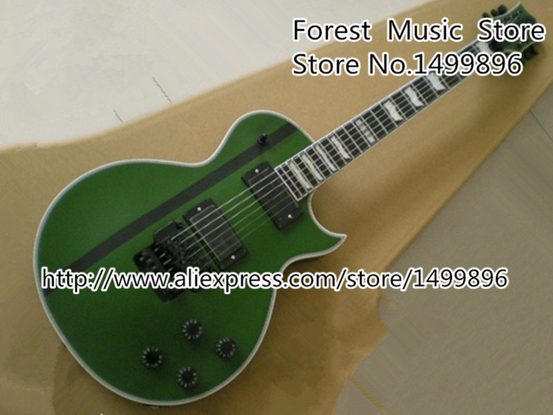 Custom Shop Army Green Classic EMG Style Pickup ESP Electric Guitar with Floyd Rose Tremolo from Chinese Factory free shipping 2017 new arrival esp blood tears jaw custom electric guitar james hetfield esp guitar 150717