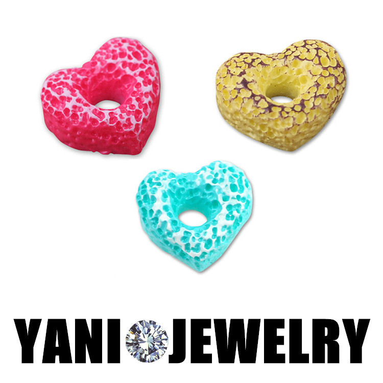 20Pcs/Lot Free Shipping Charms Mix Heart Doughnut Charm Pendants For Floating Locket