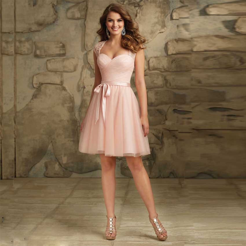 Junior bridesmaid dresses sexy v neck cap sleeves open for Short open back wedding dresses