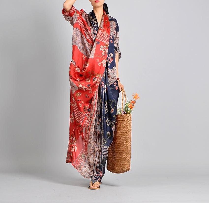 Kobiety wiosna lato Casual Patchwork drukowane Tencil sukienka Retro sukienka kobiet w stylu Vintage drukuj lato druku syrenka krzyż sukienka 2019 w Suknie od Odzież damska na  Grupa 2