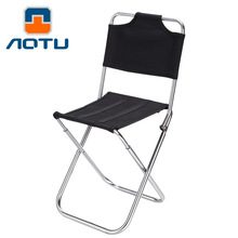Hot 2 Colors Outdoor Camping Fishing Foldable Chair with Backrest Multifunction Portable Seat with Carrying Bag for Picnic Beach