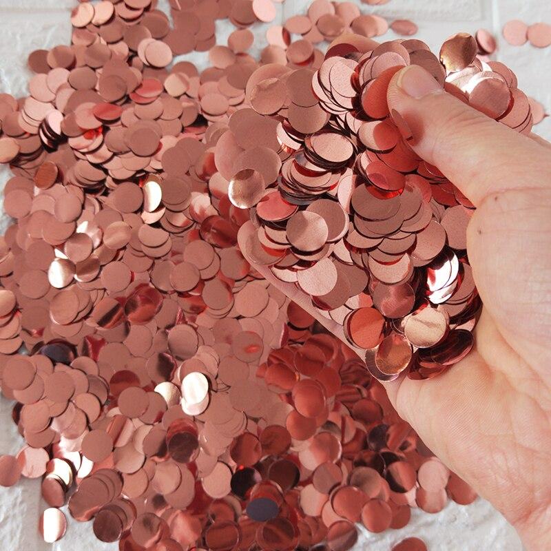 1 дюйм = 2,5 см розовое золото круглый Сердце Конфетти из фольги 1 кг/мешок свадьба день рождения воздушный шар бумага конфетти принадлежности