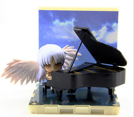 NEW hot 7cm Angel Beats piano Tachibana Kanade action figure toys collection with box
