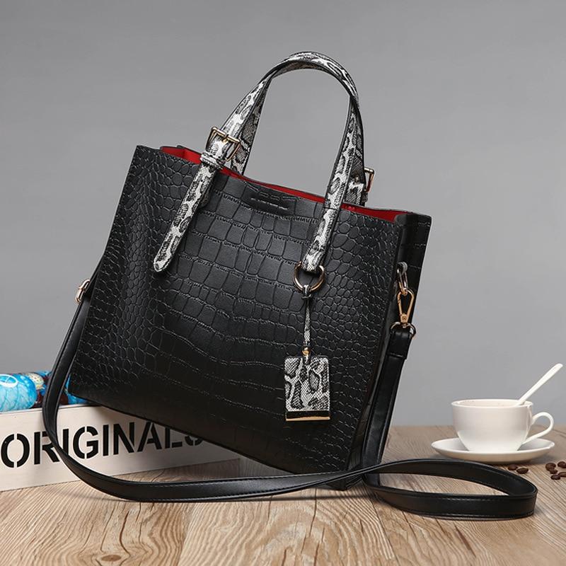 Genuine Leather Handbag Red Crocodile Patent Leather Tote Bag Women Handbags Luxury Women Bags Designer Crossbody Shoulder  C825 spring outfits for kids