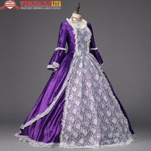 Georgian Period Princess Dress Marie Antoinette Renaissance Christmas Ball Gown Holiday Dress Theater Clothing