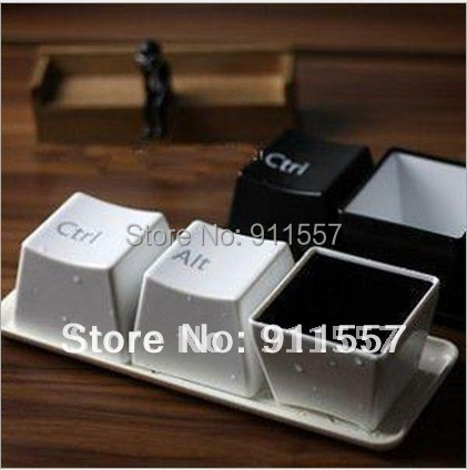 No retail box Free shipping Honest High Quality goods Keyboard cup fashion cup per set include ctrl del alt 3 pieces/set  #H0119