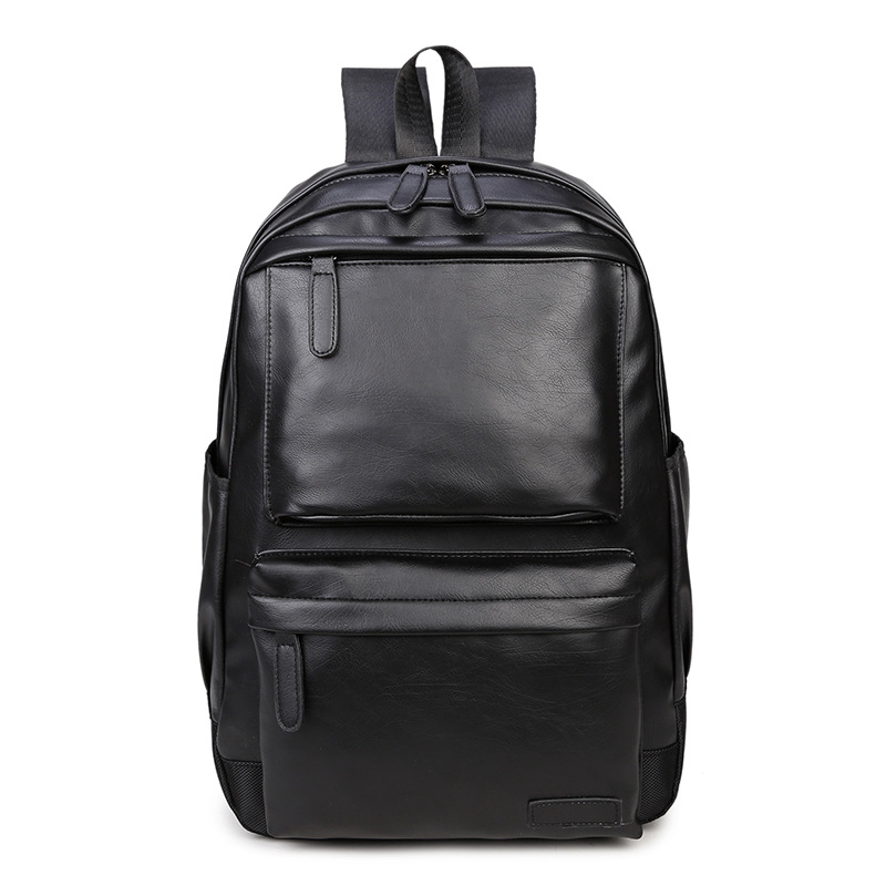 Waterproof Women's bag Schoolbag PU leather Female Male Backpack Fashion Travel a Bag Pack for Teenage Girls Rucksack Mochila-in Backpacks from Luggage & Bags