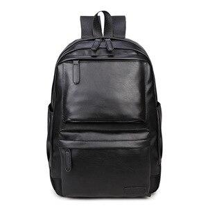 Image 1 - Waterproof Womens bag Schoolbag PU leather Female Male Backpack Fashion Travel a Bag Pack for Teenage Girls Rucksack Mochila