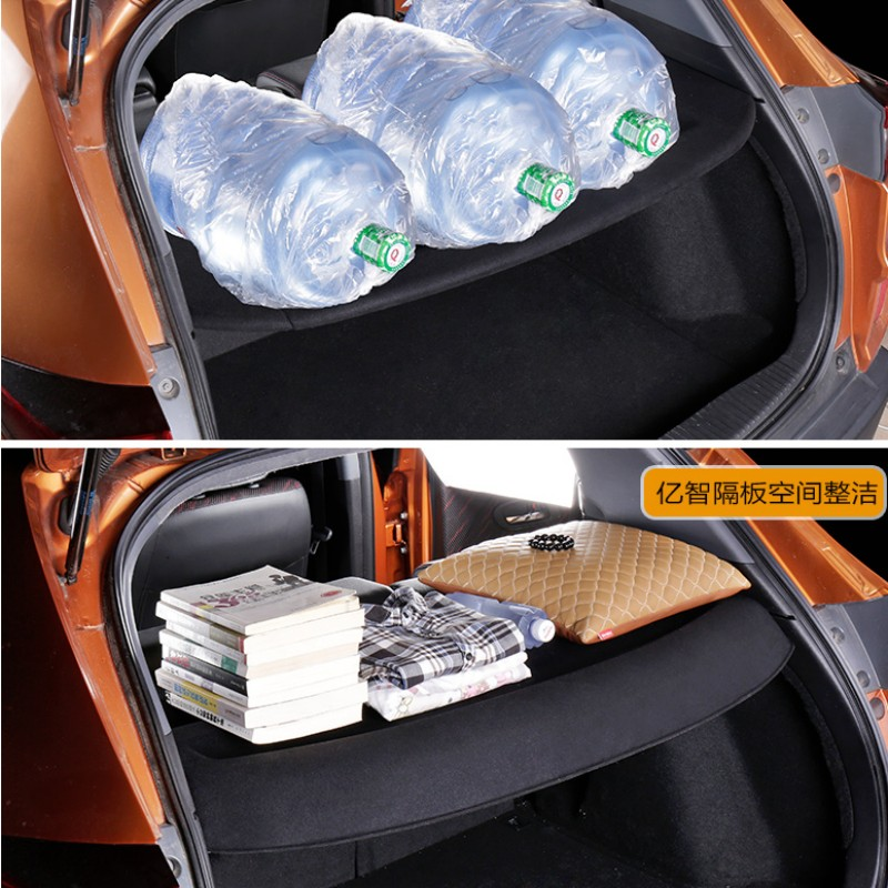 car Cargo Liner Trunk holder Modification partition bobbin cover for Honda wise xrv car rear trunk security shield cargo cover for volkswagen vw tiguan 2016 2017 2018 high qualit black beige auto accessories